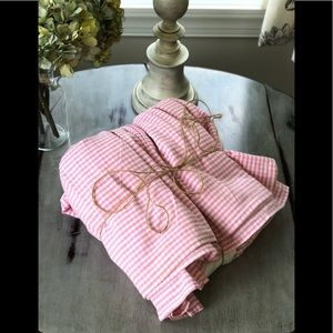 Other - Pink Checked Bed Skirt
